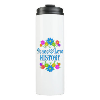 Peace Love History Thermal Tumbler