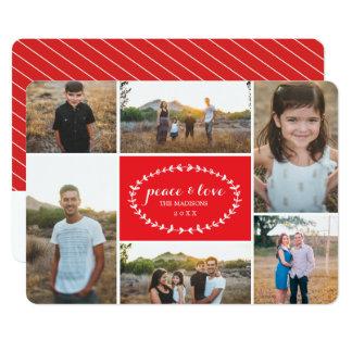 Peace & Love Holiday Photo Card