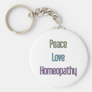 Peace, Love, Homeopathy Keychain