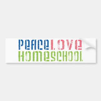 Peace Love Homeschool Bumper Sticker