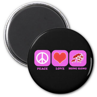 Peace Love Hong Kong Magnet