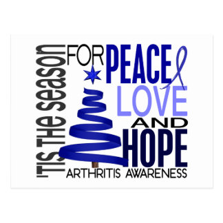 Peace Love Hope Christmas Holiday Arthritis Postcard