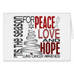 Peace Love Hope Christmas Holiday Lung Cancer Card