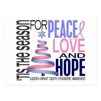 Peace Love Hope Christmas Holiday SIDS Postcard