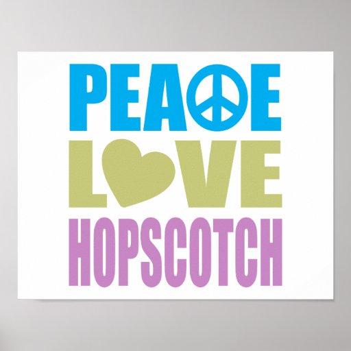 Peace Love Hopscotch Print