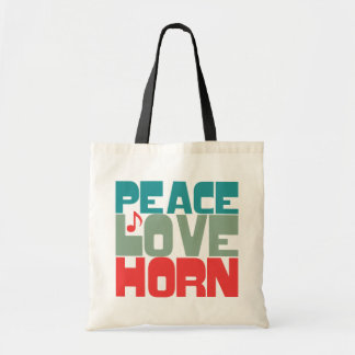 Peace Love Horn Tote Bag