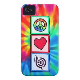 Peace, Love, Horns iPhone 4 Case