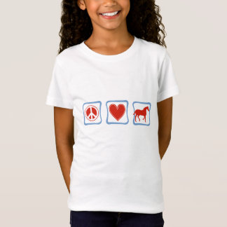 Peace Love Horses Children's T-Shirt