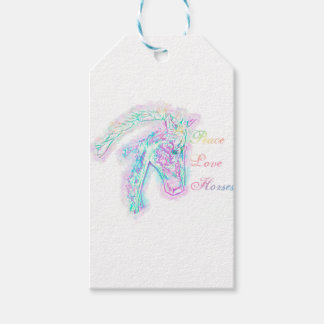 Peace Love Horses Gift Tags