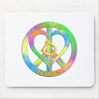 Peace Love Horses Mouse Pad