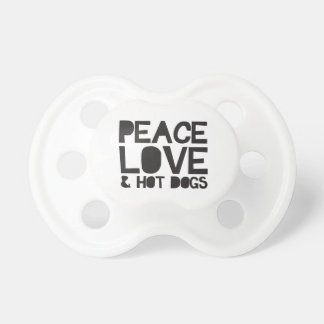 Peace Love & Hot Dogs Baby Pacifier