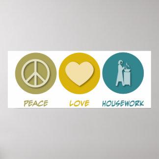 Peace Love Housework Print