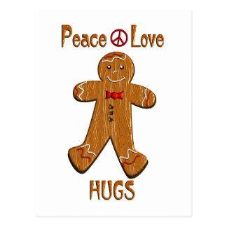 Peace Love Hugs Postcard