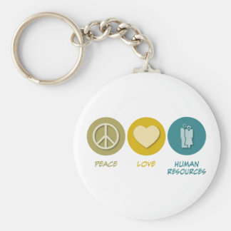 Peace Love Human Resources Keychain