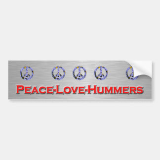 Peace-Love_Hummers Bumper Sticker