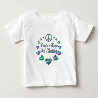 Peace Love Ice Skating Baby T-Shirt