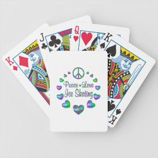 Peace Love Ice Skating Bicycle Playing Cards