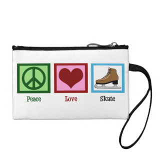 Peace Love Ice Skating Coin Purse