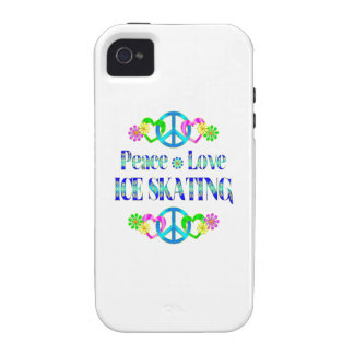 Peace Love Ice Skating iPhone 4 Case