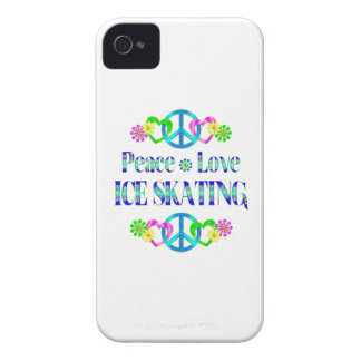 Peace Love Ice Skating iPhone 4 Case-Mate Case