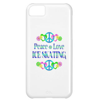 Peace Love Ice Skating iPhone 5C Case