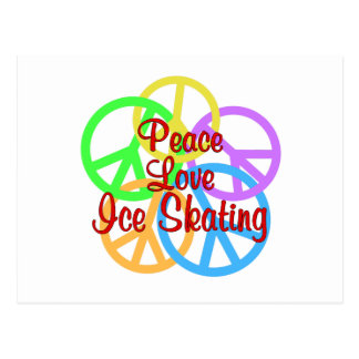 Peace Love Ice Skating Postcard