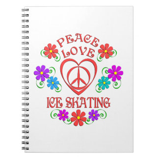 Peace Love Ice Skating Spiral Notebook