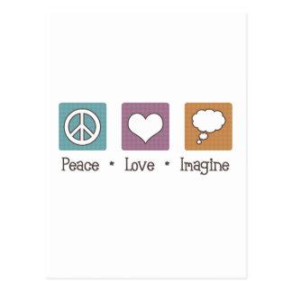 Peace Love Imagine Postcard