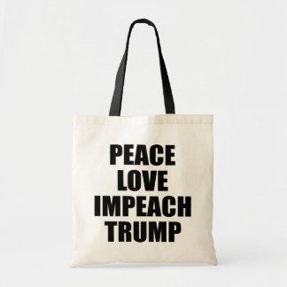 PEACE LOVE IMPEACH TRUMP TOTE BAG