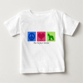 Peace Love Irish Water Spaniel Baby T-Shirt