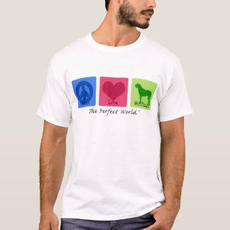 Peace Love Irish Wolfhound T-Shirt