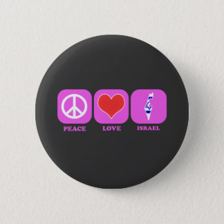 Peace Love Israel 2 Inch Round Button