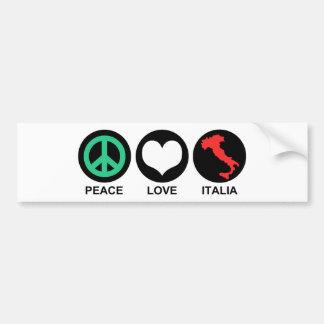 Peace Love Italia Bumper Sticker