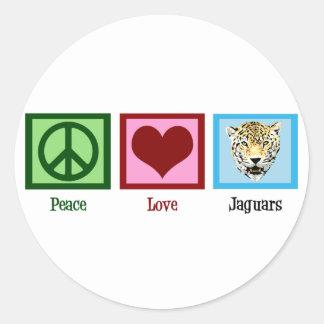 Peace Love Jaguars Classic Round Sticker