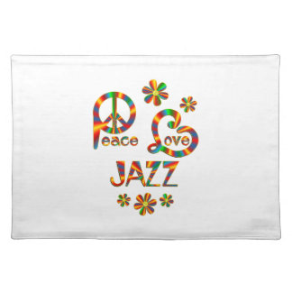 Peace Love Jazz Placemat