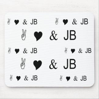 Peace Love & JB Mouse Pad