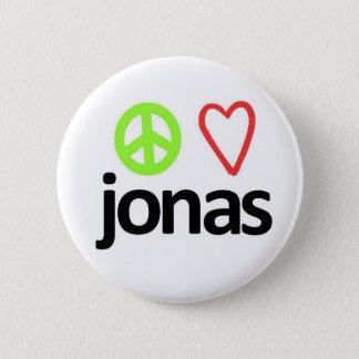 Peace, Love, Jonas 2 Inch Round Button