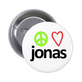 Peace, Love, Jonas 2 Inch Round Button