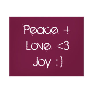 Peace Love Joy canvas Gallery Wrap Canvas