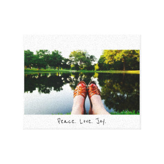 Peace Love Joy Canvas Print
