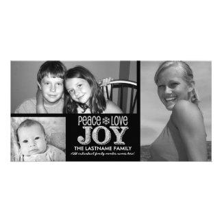 Peace Love Joy Chalkboard - 3 photos Picture Card