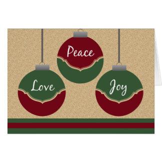 Peace, Love, Joy Christmas Card