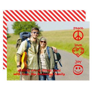 Peace, Love, Joy - Christmas Card