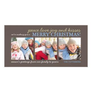 Peace Love Joy Family Merry Christmas Photo Card