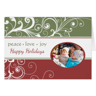 PEACE LOVE JOY Folded Holiday Card
