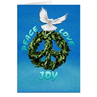 PEACE LOVE JOY Holiday greeting card