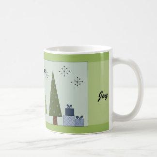Peace, Love, Joy Coffee Mugs