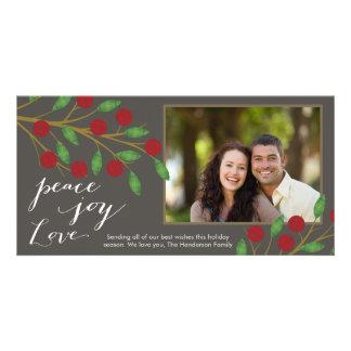 Peace Love Joy Photo Card Template