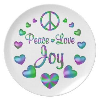 Peace Love Joy Plate