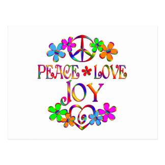 Peace Love Joy Postcard
